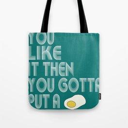 Single Egg Tote Bag