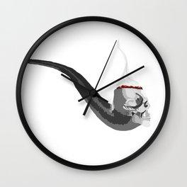 Skull Pipe Wall Clock