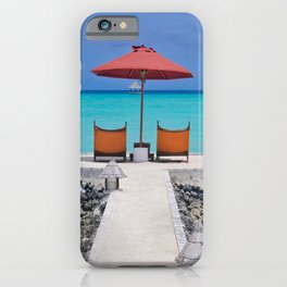 Maldives Beach Vibe iPhone Case