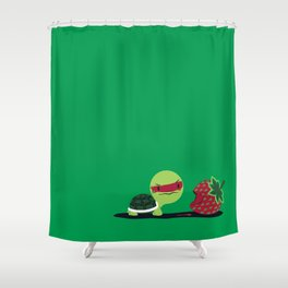 Strawberry Turtle Shower Curtain