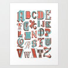 Alphabet Poster Art Print