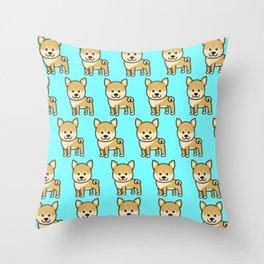 shiba inu Dog Gift for Kids Dogs Throw Pillow