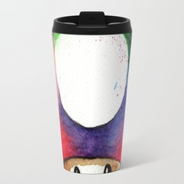 mushroom Watercolor Super Mario UP Travel Mug
