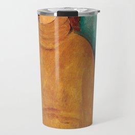 Portrait of Jeanne Hébuterne by Amedeo Modigliani Travel Mug