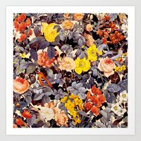floral pattern Art Prints featuring Floral Pattern by Burcu Korkmazyurek