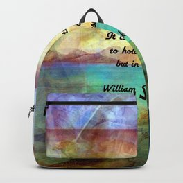 William Shakespeare Inspirational Quote About Destiny Backpack