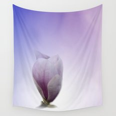 window curtain with flowerpower -1- Wall Tapestry