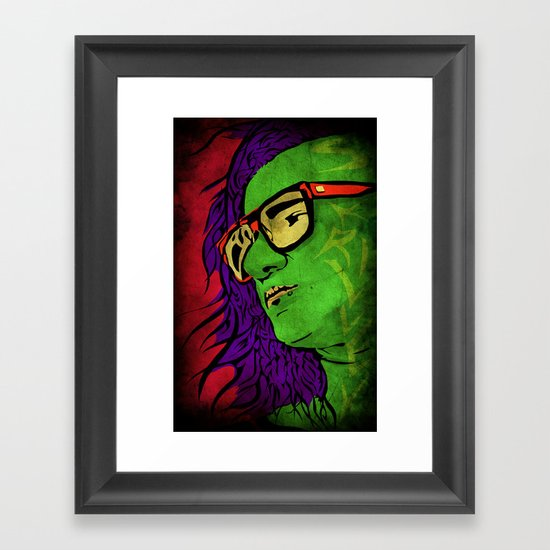 Skrillex Framed Art Print