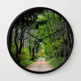 Back roads of my youth  Wall Clock