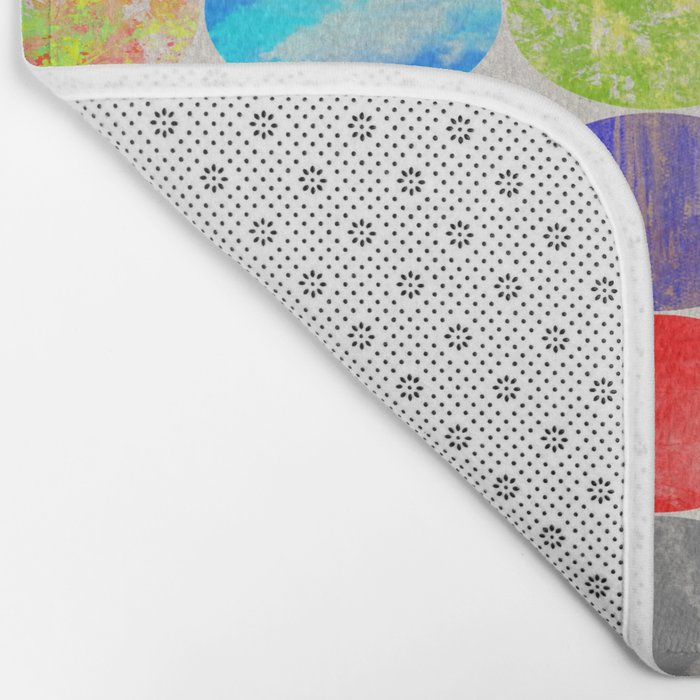 36 Textures - Multi Coloured, Multi Patterned, Multi textured Canvas Painting Bath Mat
