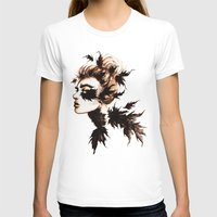 crow T-shirts featuring Crow by Nora Bisi