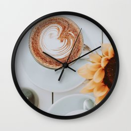 But First, Coffee V Wall Clock