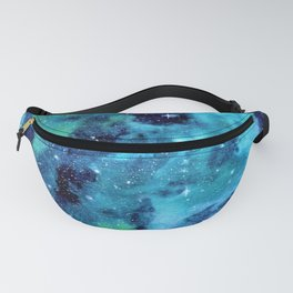 """""""Blue Dust"""" Nebula watercolor painting Fanny Pack"""