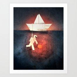 Ocean Diver Art Print