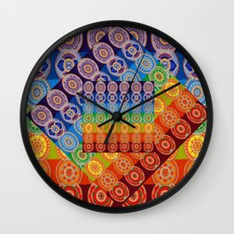 7 CHAKRA SYMBOLS OF HEALING ART #2 Wall Clock