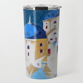 Memory of Santorini Travel Mug