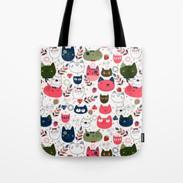 Lovely Cats Pattern for Cats Lovers. Tote Bag