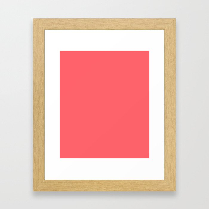 Coral Red Framed Art Print