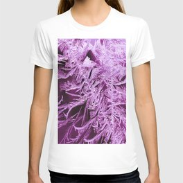 White Ice Crystals On A Purple Background #decor #society6 #homedecor T-shirt