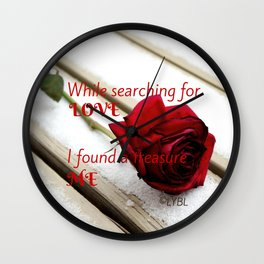 Love Yourself  Merry Christmas Edition Treasure 01 Wall Clock