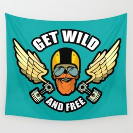 Get Wild And Free Wall Tapestry