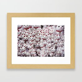 maneki neko cats Framed Art Print
