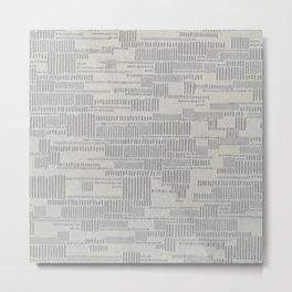 STRIPES PATTERN WHITE Metal Print