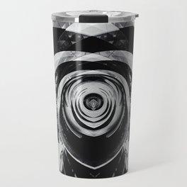 Geometric Art - Black Dog Travel Mug