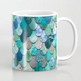 Mermaid Pattern, Sea,Teal, Mint, Aqua, Blue Coffee Mug
