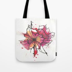Pink and yellow Flower Explosion  Tote Bag