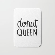 Donut queen / typography art Bath Mat