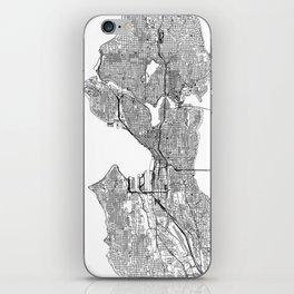 Seattle White Map iPhone Skin