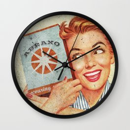 Abraxo - Custom Fallout Ad Wall Clock