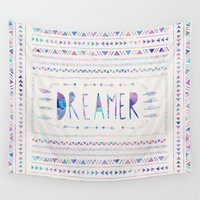 dreamer Wall Tapestries featuring DREAMER by Bianca Green