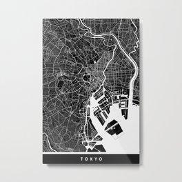 Tokyo - Minimalist City Map Metal Print