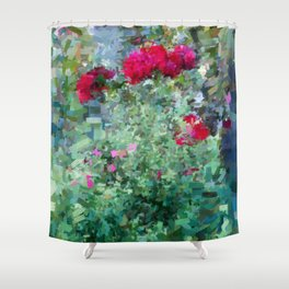 Pastel garden 3 Shower Curtain