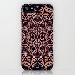 Strange Days // Psychedelic Trippy Dark Visionary Art Circle Abstract Orange Purple Black iPhone Case
