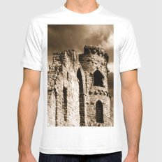 Times Past Mens Fitted Tee MEDIUM White