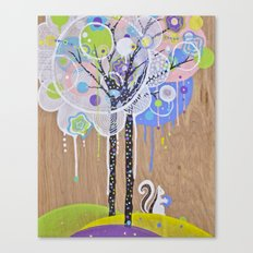Squirrel Tree Canvas Print