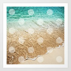 Virgin Islands / Polka Dots Art Print