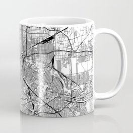 Houston White Map Coffee Mug