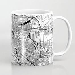 Houston White Map Coffee Mug