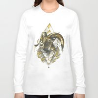 ram Long Sleeve T-shirts featuring ram by rosanna corfe