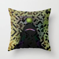 secret life Throw Pillows featuring The Secret Life of Arabia by Angelo Cerantola