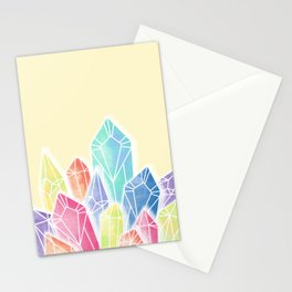 Crystals Yellow Stationery Cards