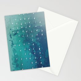 Boats on the Ocean Stationery Cards