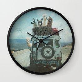 ALPACA WANDERLUST II SUMMER EDITION Wall Clock