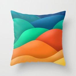 rainbow dunes Throw Pillow