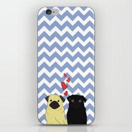 Chevron Pug iPhone Skin