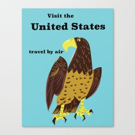 Visit the united States Travel poster Canvas Print